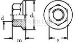 Hexagon flange nut with teeth DIN 6923